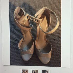 Ivanka Trump beige/nude Gladly ankle strap sandals